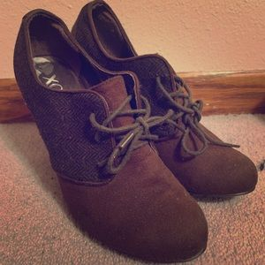 Brown heels.